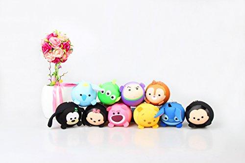 Replica Tsum Tsum Disney Set of 10 - Mickey Minnie Stitch Dale Pooh Dumbo Lotso Buzz Goofy Mini 3.5