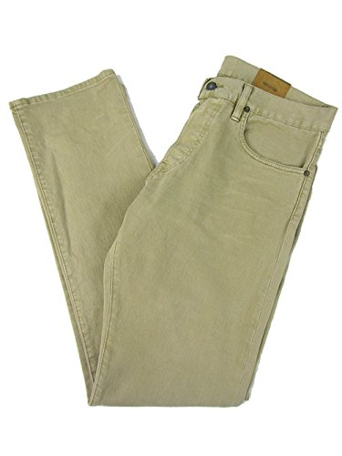 Polo Ralph Lauren Men's Slim-Fit Lightweight Sherman-Wash Jeans (42 x 30, Khaki) by Polo Ralph Lauren
