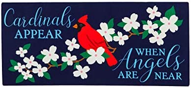 Evergreen Flag Cardinals Appear Sassafras Switch Mat – 22 x 1 x 10 Inches