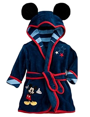 Ameny Children Kids Coral Velvet Animal Cosplay Hoody Bathrobe Cape Suit Mickey Mouse 120cm / US 3-4Y - Malls Coral Cape