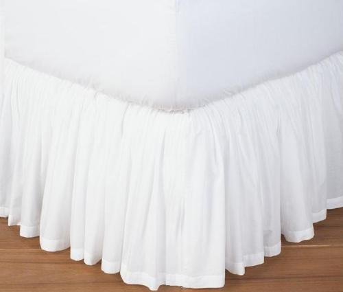 Precious Star Linen 800 Thread Count 1pc Dust Ruffle Bed Skirt Solid Twin-XL ( 39'' x 80'') Size 34 Inch Drop Length 100% Egyptian Cotton Expedited Shipping (White)