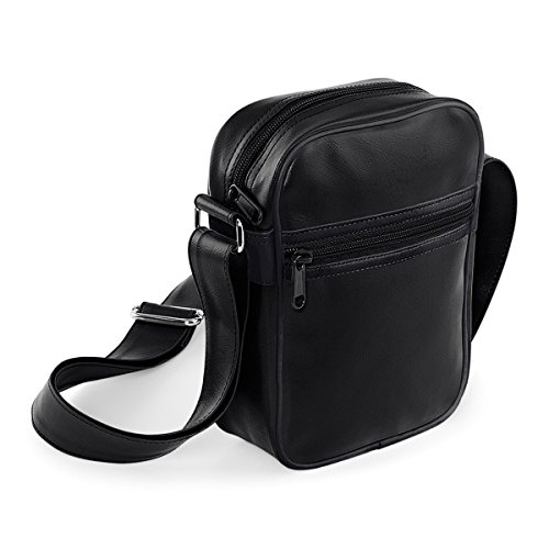 a Blanco genuino Black bolsa la bolsa francesa volver cuerpo traves unisex Black bolsa 15x21x7cm marino BagBase hombro 2L de del qcwgTxzzAR