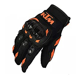 AllExtreme EXGLVM1 Bike Racing Rider Safety Sports Polyester Riding Full Finger Gloves Shock Absorption Hard Knuckle…