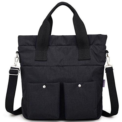 Women Nylon Shoulder Bag Satchel Handbag, Myhozee Water Repellent Travel Work Tote Bag Cross body Bag by Myhozee