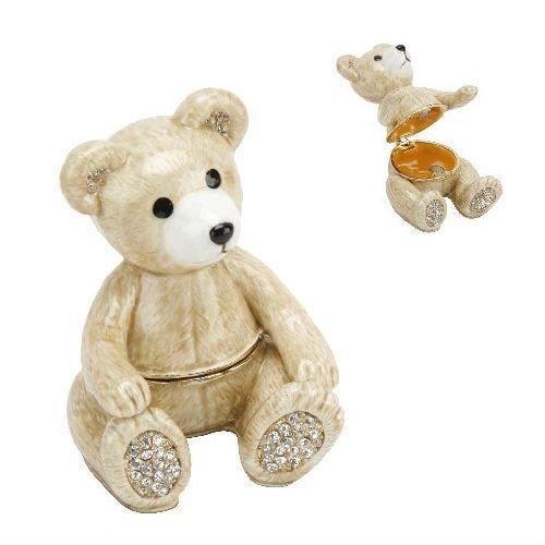 Enamelled Trinket Box (Treasured Trinkets TEDDY BEAR Trinket Box - Jewelled and Enamelled Gift (14993) by TREASURED TRINKETS)