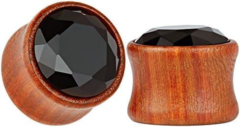 KUBOOZ Red Sandalwood Tunnels Stretcher Piercings product image