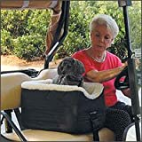 Snoozer Large Golf Cart Pet Seat, Black Vinyl, My Pet Supplies