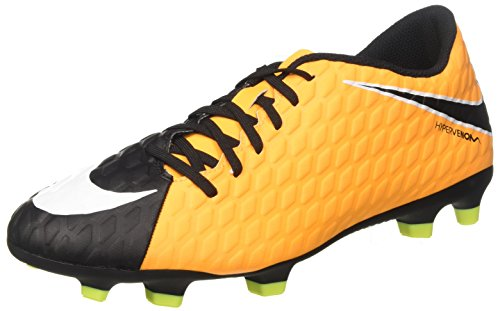 Nike Men's Hypervenom Phade III FG Soccer Cleat Laser Orange/White/Black/Volt Size 7 M US