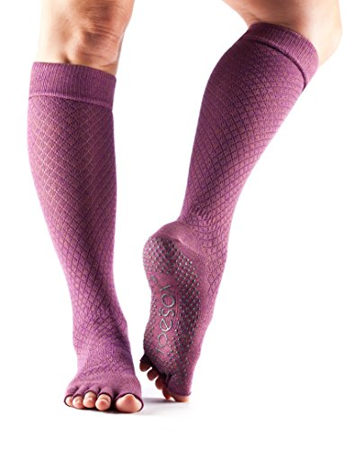 Collection Fishnet (ToeSox Women's Scrunch Knee High Half Toe (Fishnet Luscious) Small - Spring Collection)