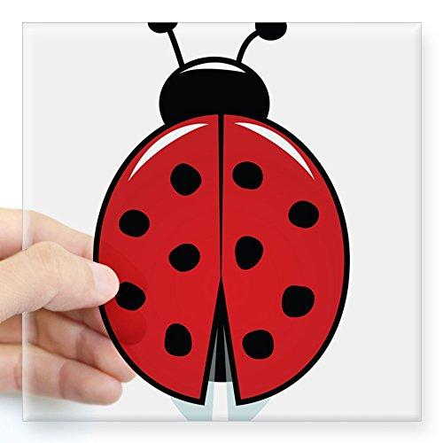 CafePress Red Ladybug Sticker Square Bumper Sticker Car Decal, 3