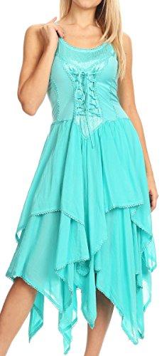 Plus Size Fairy Dresses - Sakkas 0131 Corset Style Bodice Jaquard