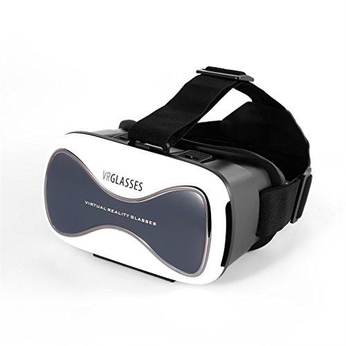 LESHP VR D3 Virtual Reality Glasses Helmet MY VR Box 3D Glasses Headset Cardboard (White)