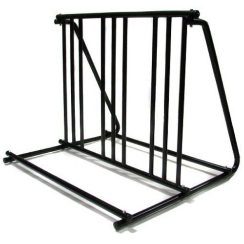 6 Bikes Floor Mount Parking HD Steel Rack Storage Bicycle Yard Outdoor Stand by Bike Car Rack Accessories