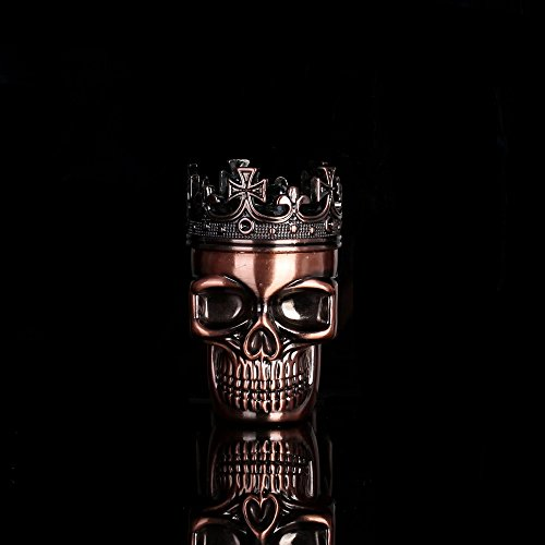 Copper King Skull Cross Crown Tobacco/Spice/Herb/Weed Grinder 3 Layers Cigarette Tobacco Pipe Accessories Spice Weed Herb Grinder
