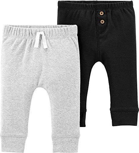 Carter's Baby Boys 2 Pack Pants, Black/Grey, 6 - Clothes Pants Baby Boys Boy