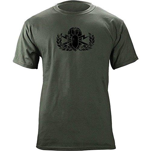 Vintage Army EOD Badge Subdued Veteran T-Shirt (M, Green)