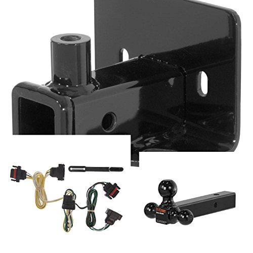 CURT Trailer Hitch, Wiring & Ball Mount for Dodge Dakota, Mitsubishi Raider