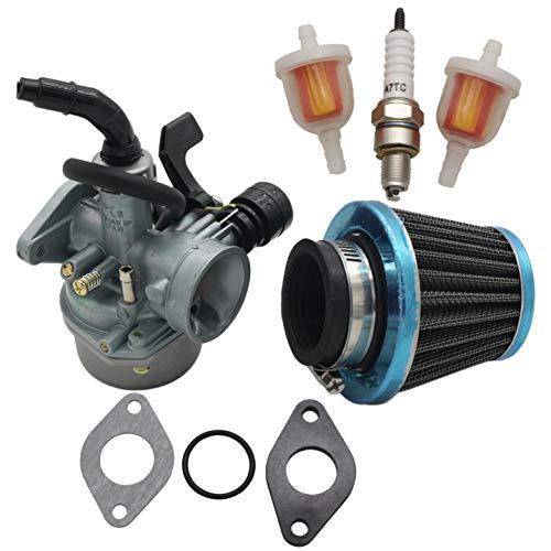 CNCMOTOK Carburetor PZ19 with Fuel Filter and 35mm Air Filter for 50cc 70cc 80cc 90cc 110cc 125cc ATV Dirt Pit Bike Taotao Honda CRF Scooter Moped Go karts