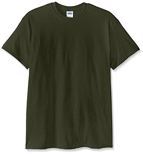 Gildan Men's Ultra Cotton Tee, Military Green, X-Large