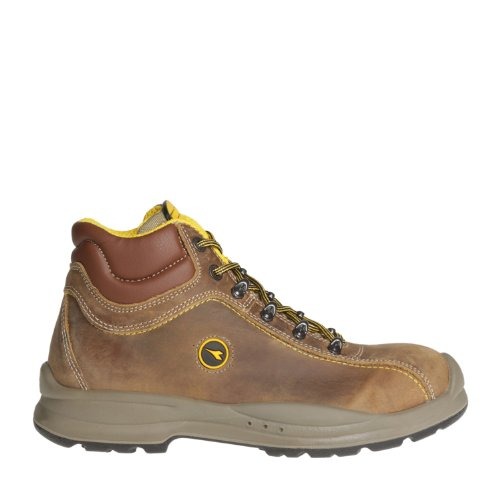 Diadora - Calzado de protección de Piel para hombre marrón