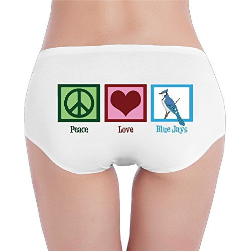 PRETY Peace Love Blue Jays Sexy Fashion Underwear White Small For Women And Girls