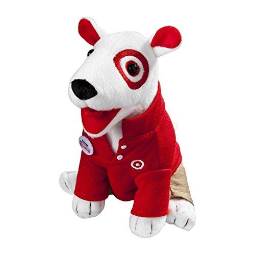 Red & Khaki Target Bullseye Dog Plush (Bullseye Khaki)