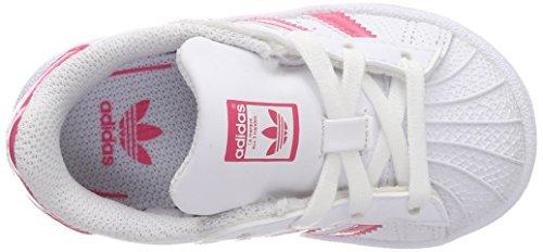 adidas Superstar, Zapatillas Unisex Bebé Blanco (Ftwbla / Rosrea / Ftwbla 000)