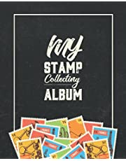 Stamp Collecting Album: Banknotes paper money currency travel places stamp collecting book for professional collectors