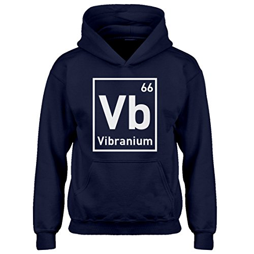 Indica Plateau Kids Hoodie Vibranium X-Large Navy Blue Hoodie by Indica Plateau