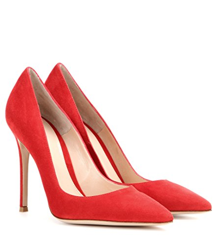 Heels Spillo Alto A Donna Scarpe Col Sexy Decolte High Red Edefs Suede Tacco Tacchi afXHwPxWq