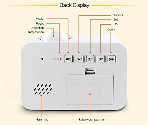 Sorlivatalking orologio proiezione controllo vocale//luce notturna a LED//Sveglia