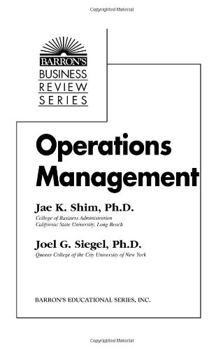Operations Management (Barron's Business Review Series)