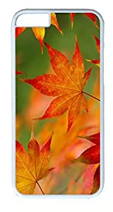 iPhone 6 Plus Cases, ACESR Plastic Hard Case Cover for Apple iPhone 6 Plus (5.5inch Screen) White Border Autumn...