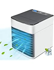 Portable Air Conditioner, USB Air Cooler with 3-Speed, Personal Air Conditioner with LED Light, Evaporative Cooler for Small Room/Office/Desk/Bedroom