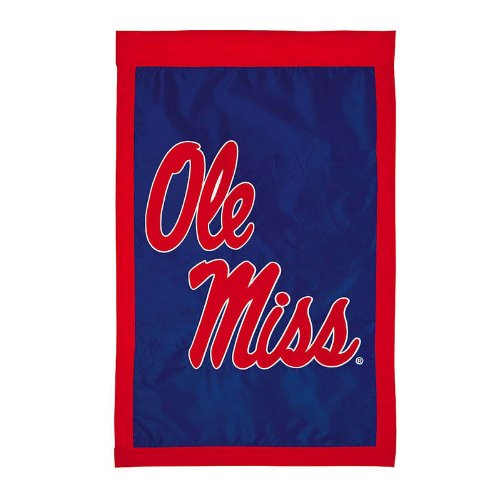 Ashley Gifts Customizable Applique Regular Flag, Double Sided,  University of Mississippi, Ole Miss