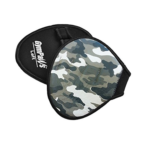 - Genuine Leather Hand Pads for Gym | Camo Gym Gloves | Urban Grey Camouflage