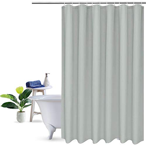 (UFRIDAY Grey/Gray Shower Curtain Stall Size 36 x 72-Inch, Solid Color Shower Curtain Mildew Free)