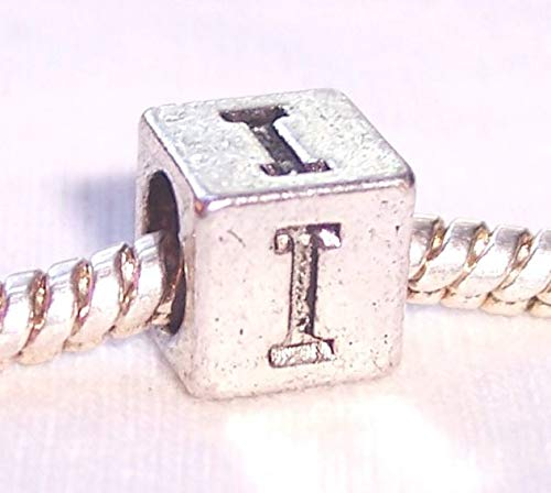 Jewelry Making Supplies Iota Symbol Uppercase Greek Letter I Numeral Cube Bead for Euro Charm Bracelets Make Personalized Necklaces Bracelets and Other - Letters Symbols Greek