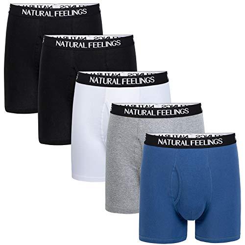 ILUVIT Mens Underwear Boxer Briefs Ultra Cotton Underwear Men Pack of 5 Contoured Pouch