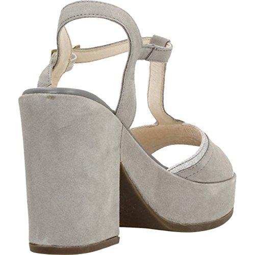 Sandalias y chanclas para mujer, color gris , marca STONEFLY, modelo Sandalias Y Chanclas Para Mujer STONEFLY CAROL 2 VELOUR GLITT Gris gris