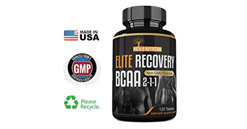 Powerful 4000mg Elite Recovery BCAA Capsules 2 1 1 Pre and Post Workout Branched Chain Amino Acids