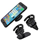 Car Mount for Pop Socket, ANEVV Pop Clip Car Mount on Car Air Vent, 360° Rotation Pop Out Stand Car Phone Mount on Dashboard Desk Wall, Perfect for Expanding Stand and Grip Popsockets Users - [2 Pack]