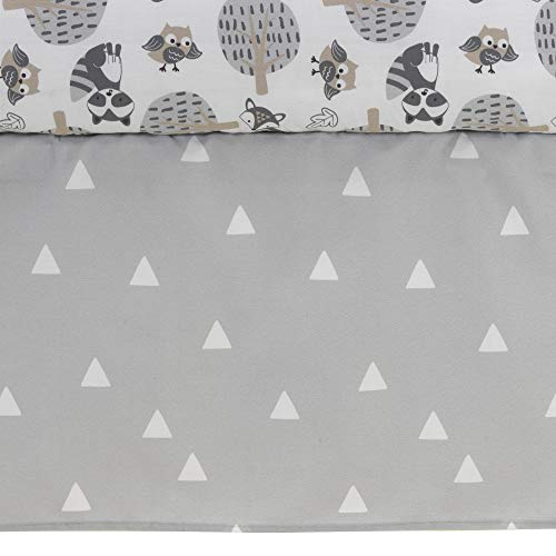 Bedtime Originals Little Rascals timber Animals 3 Piece Crib Bedding Set Gray White