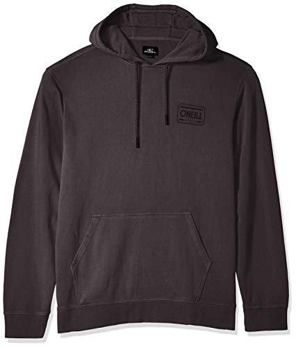 O'Neill Men's Oceans Pullover Hoodie, Black, (Pigment Dyed Pullover Hoodie)