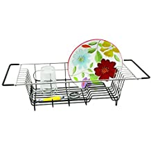 Better Houseware Over Sink Dish Drainer, 19.25 X 8.25 X 4.5-Inch, Stainless Steel