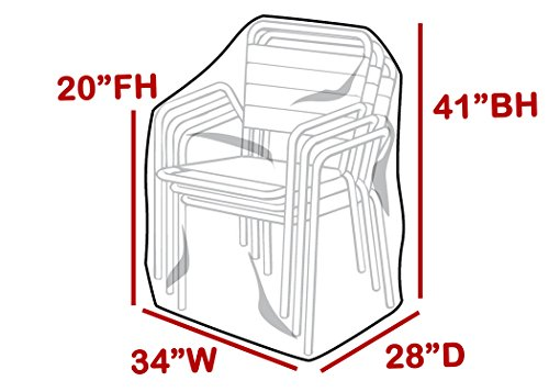 - LAMINET Crystal Clear Heavy-Duty Waterproof Plastic Outdoor Furniture Cover - Hi-Back/Stacked Chairs Cover - 3 Season Protection - Keep Rain, Snow & Debris Off! Premium Protection at Economy Price!