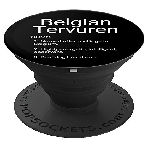 Belgian Tervuren Breed - Belgian Tervuren Breed Definition Dog Mom Gift - PopSockets Grip and Stand for Phones and Tablets