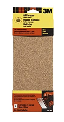 3M 9011DCNA 4.5-Inch by 11-Inch Power Sanding Sheets, Coarse Grit, 4-pack