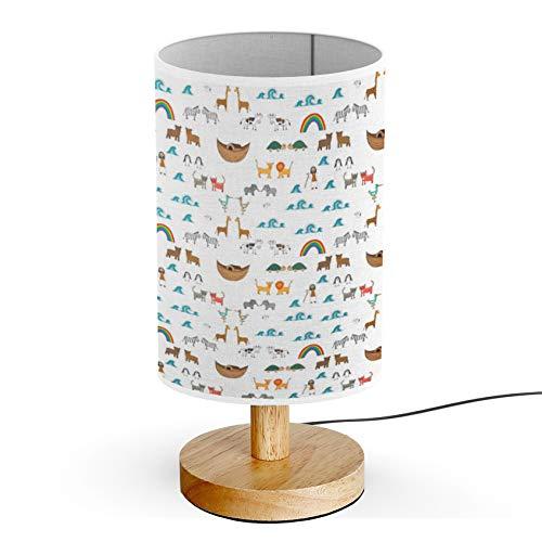 ARTSYLAMP - Wood Base Decoration Desk Table Bedside Light Lamp [ Noahs Ark - Noahs Ark Light