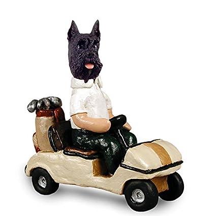 Amazon.com: Schnauzer Negro Carrito de golf Doogie ...